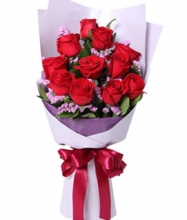 12 Pieces Red VALENTINE Rose Bouquet