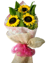 3 Pieces Sunflower in Bouquet