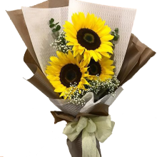 3 Pieces Sunflower Bouquet