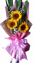 3 Pieces Fresh Sunflower Bouquet