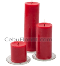3 Size Red Candles