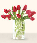 12 pcs. Red Tulip in Vase