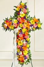 Bright Cross Standing Spray