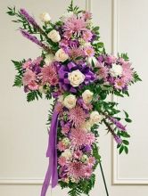 Lavish Purple Cross Standing Spray