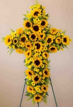 Sunshine Cross Standing Spray
