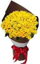 50 Yellow Roses in Bouquet