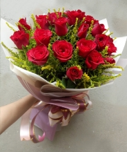 24 Red Roses in a Bouquet