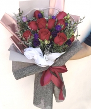 9pcs Red Roses Bouquet