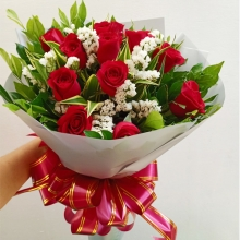 11 Red Roses in a Bouquet