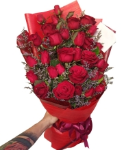 24 Red Rose in a Bouquet