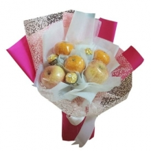 Chocolates and Fruits in a Bouquet