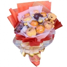 Fruits & Chocolates in a Unique Bouquet