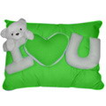 Wesley Pillow w/ I Love You & Bear by Bear Huggs