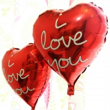 2 Pieces I Love You Red Heart Balloon