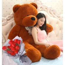 12 Rose Bouquet with 4 Feet Giant Teddy Bear