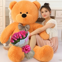 4 Feet Giant Teddy Bear with 24 Pink Roses