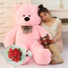 4 Feet Giant Bear with 12 Red Rose Bouquet