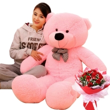 4 Feet Giant Teddy with 12 Red Rose Bouquet