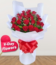 24 Red Roses Bouquet (V-Day Flowers)