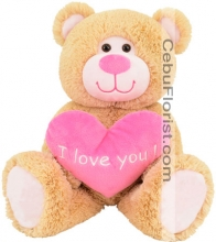 Brown Bear with Love Heart