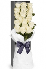 24 White Roses in a Beautiful Box