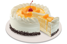 Peach Mango Symphony Cake By Red Ribbon