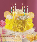 Yellow Carnations w/ Candles