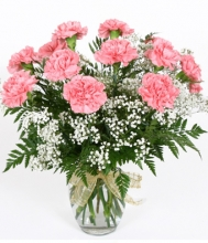 10 pcs Pink Carnation w/ Greenery