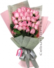 24 Pink Cheerful Happy Bouquet