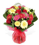 Selection of 3 Colored Flowers Bouquet