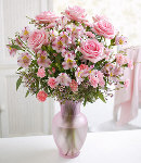 Assorted Pink Flowers in Vase