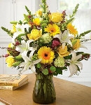 Mixed Fresh Flowers in Vase