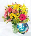 Mixed Flowers w/ Balloons